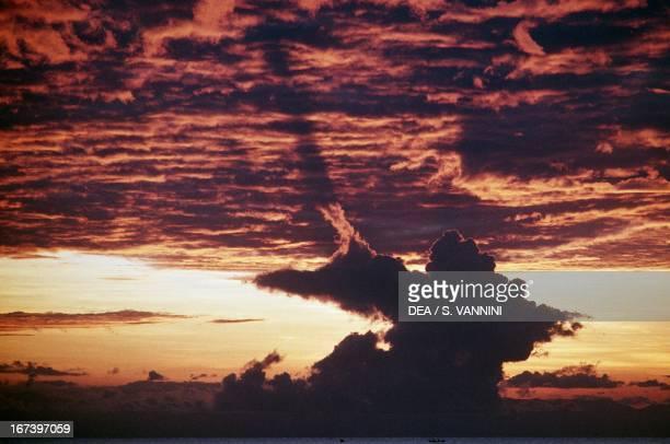 Clouds at dawn on Lake Malawi Karonga Malawi