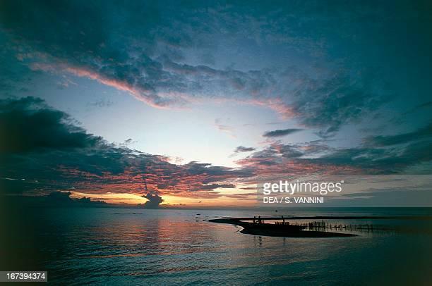 Clouds at sunset on Lake Malawi Karonga Malawi