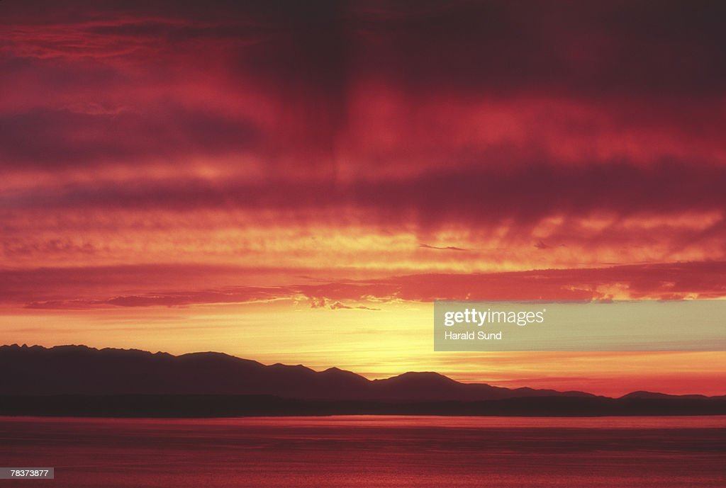 Clouds at sunset : Stock Photo
