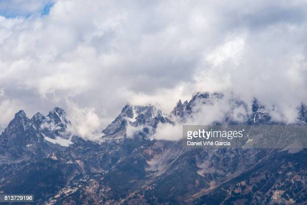 Clouds at Teton Mountain Range