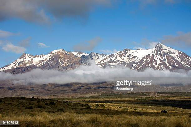 Clouds drift over the eastern slopes of Mount Ruapehu in Tongariro National Park Tangiwai New Zealand on Tuesday Jan 15 2007 A crater lake at Mount...