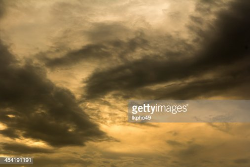 clouds during sunset : Stock Photo