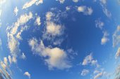 blue sky - Fisheye shot