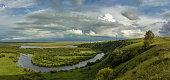 Clouds float above Hulunbuir Grasslands,Hulun Buir City,Inner Mongolia,China