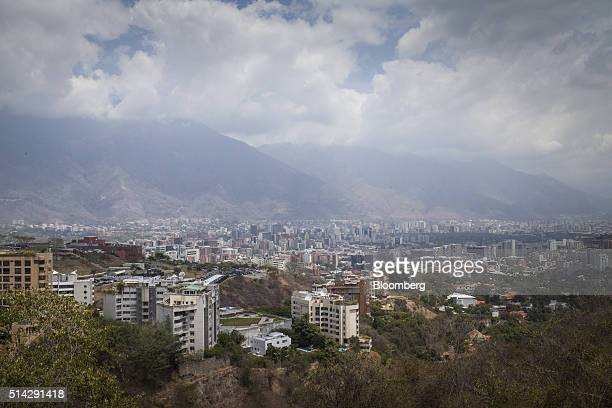 Clouds hang above Avila Mountain as seen from the offices of Knossos Asset Management in Caracas Venezuela on Wednesday March 2 2016 When managing...