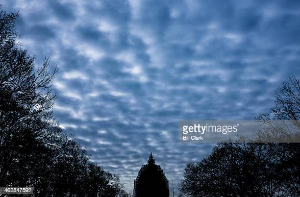 Clouds hang over the US Capitol dome on Friday Feb 6 2015