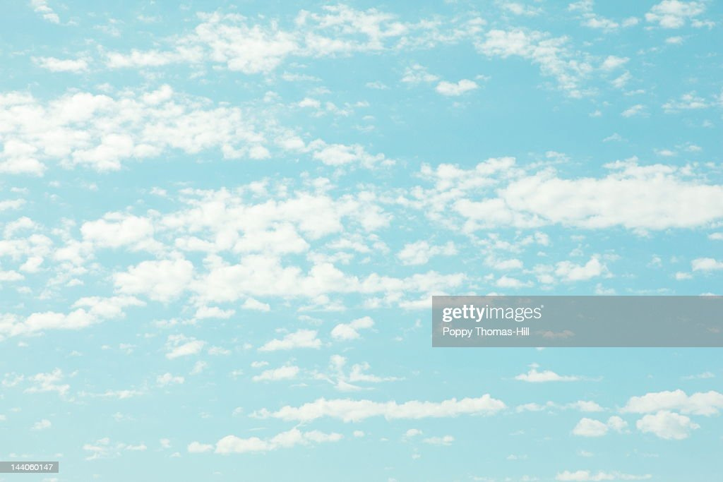 Clouds in morning blue sky : Stock Photo