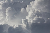 Close up clouds in  sky before rain