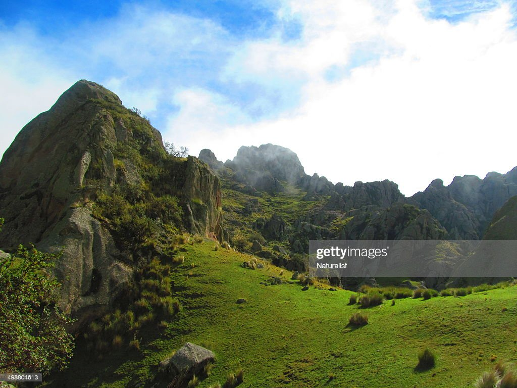 Clouds on summit of La cruz mountain