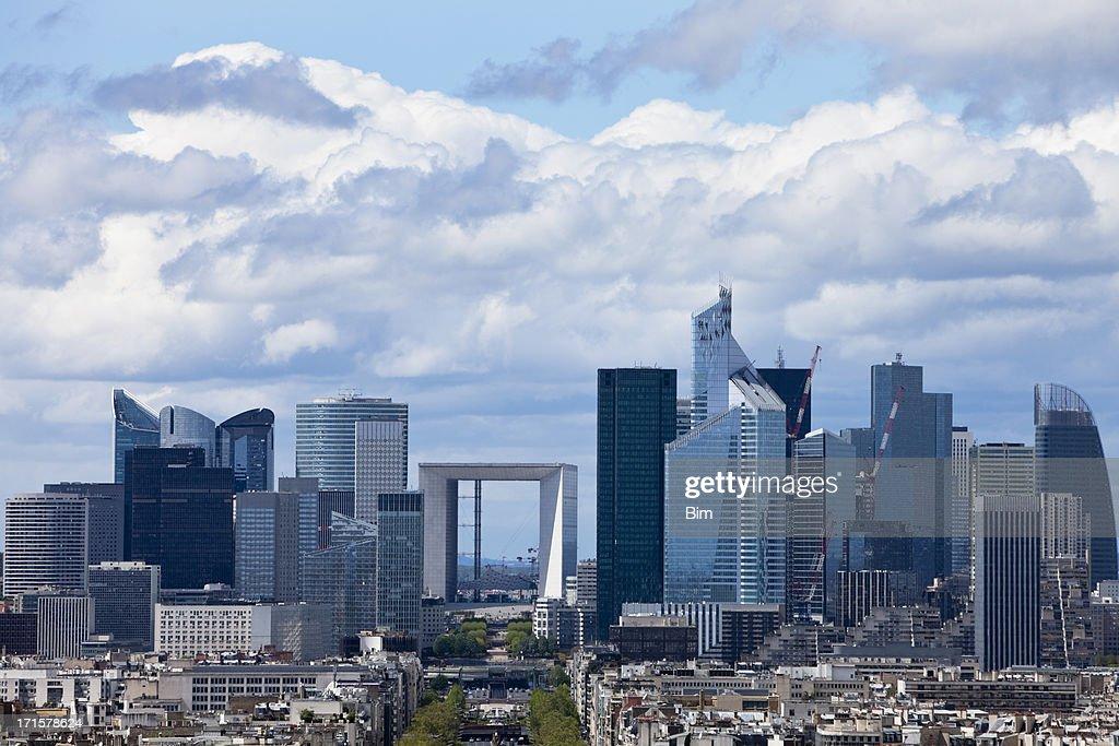 Clouds Over La Defense Financial District, Paris, France