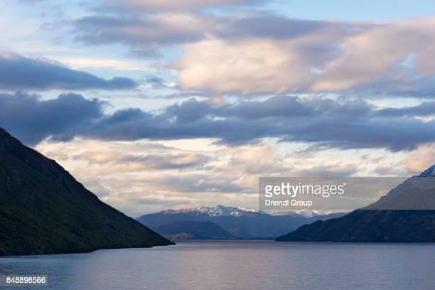 Clouds over Lake Wakatipu and Coronet Peak.