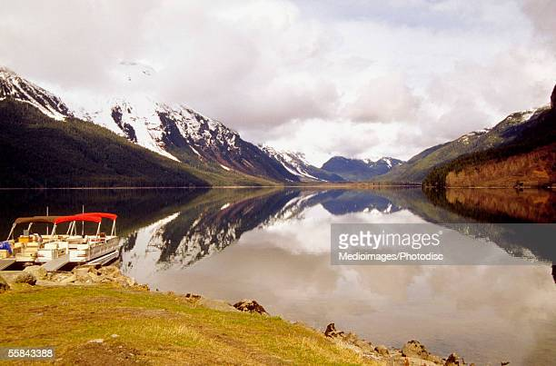 Clouds over mountains, Chilkoot Lake, Haines, Alaska, USA