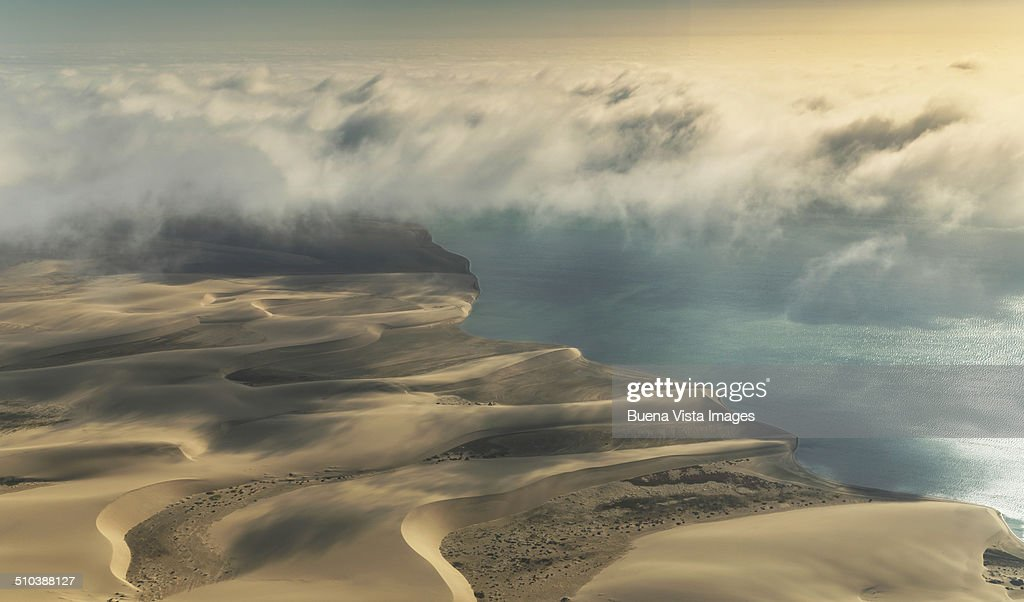 Clouds over Namibia's Skeleton Coast