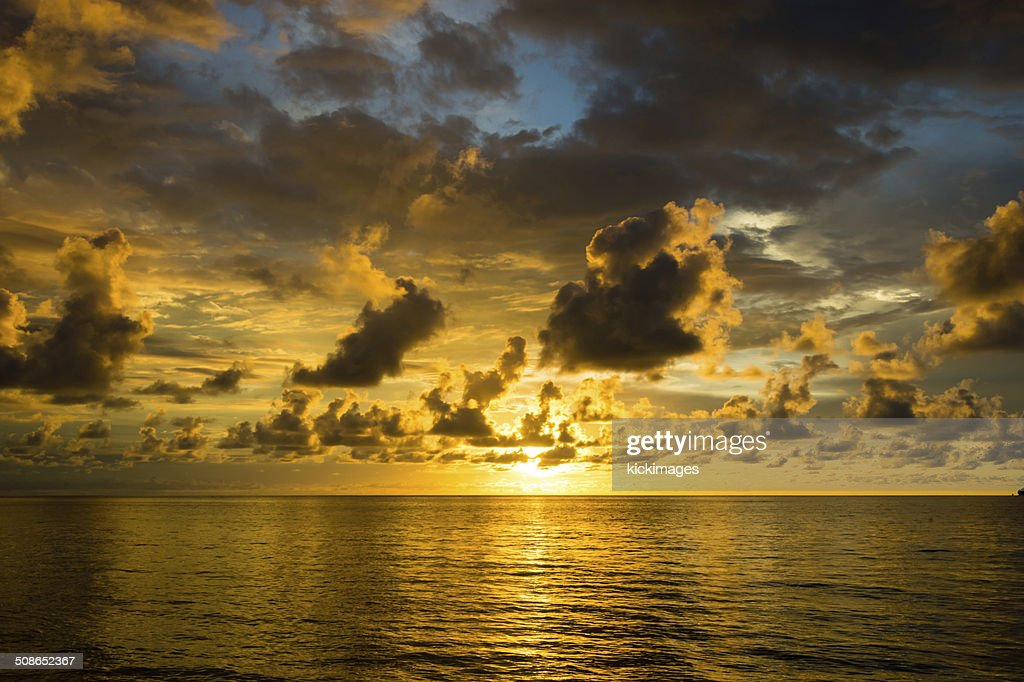 Clouds Over Seascape : Stock Photo