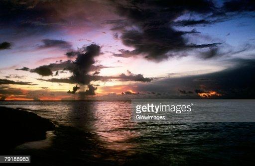 Clouds over the sea, Sipadan, Borneo, Malaysia : Stock Photo