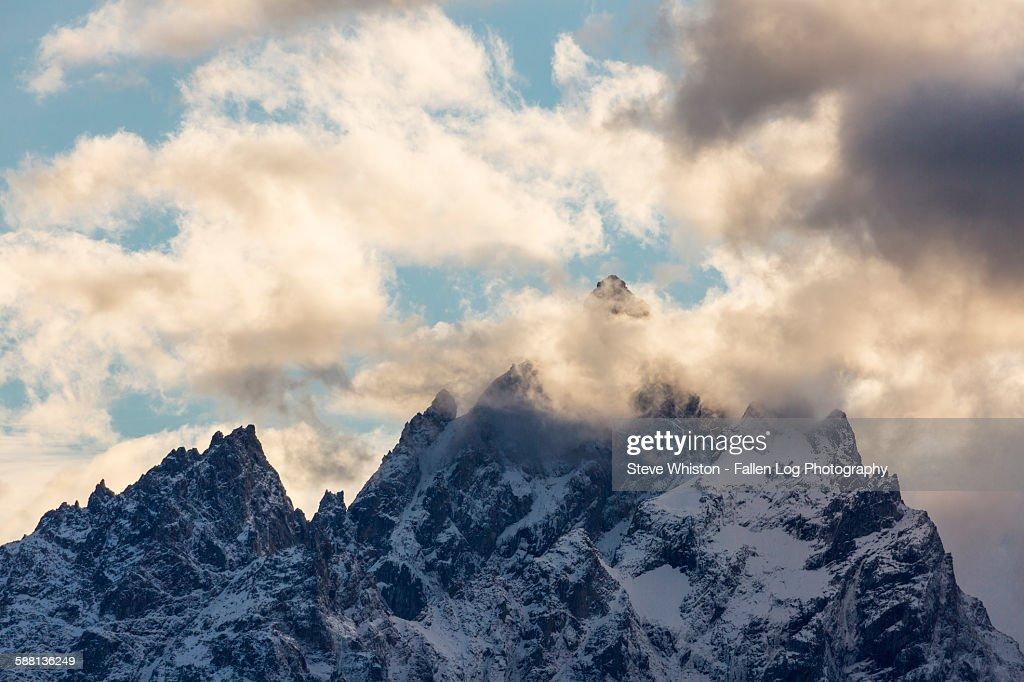 Clouds over the Teton Mountains