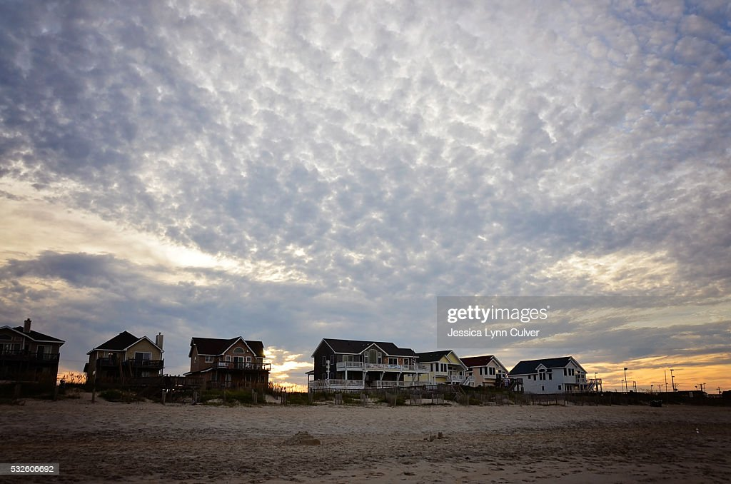 Clouds over vacation homes along the Outer Banks