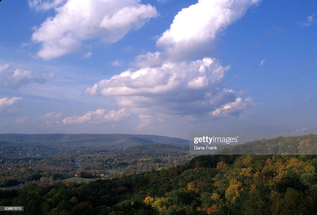 Clouds passing over Catskill Mountains