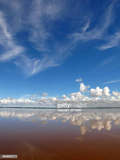 Clouds reflected on Lake Waikare, New Zealand