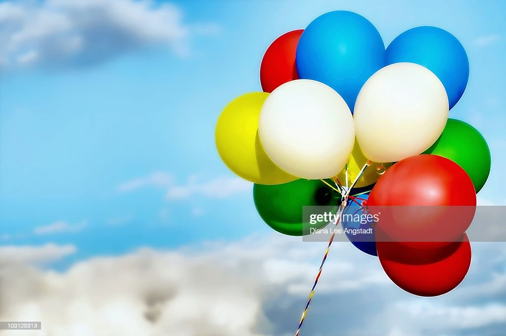Clouds to balloons stock photo getty images for Silver cloud balloons