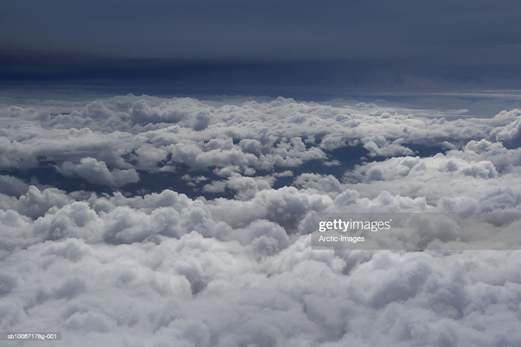 Cloudscape, aerial view : Stock Photo