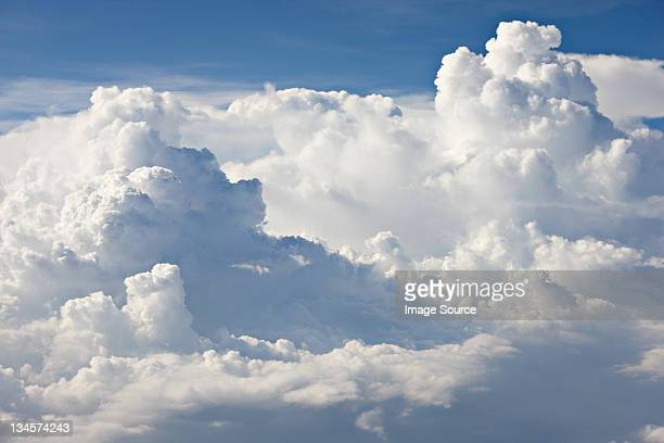 Cloudscape against blue sky