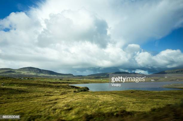 Cloudscape and the lanscape, Scottish Highlands, Isle of Skye