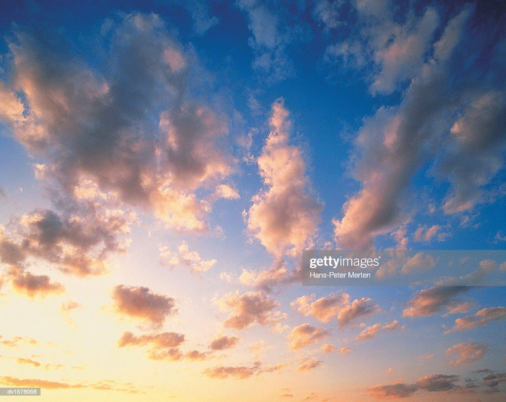 Cloudscape at Dusk : Stock Photo