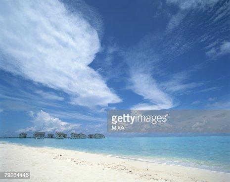 Cloudscape in Maldives : Stock Photo