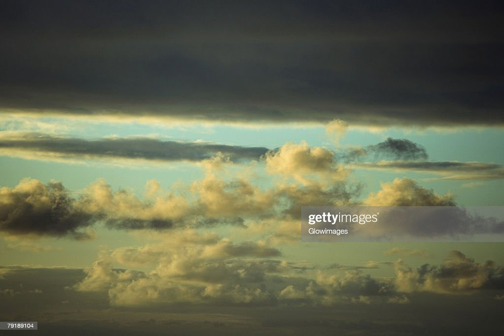 Cloudscape in the sky, Mawi, Hawaii Islands, USA : Foto de stock