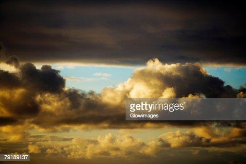 Cloudscape in the sky, Mawi, Hawaii Islands, USA : Foto de stock