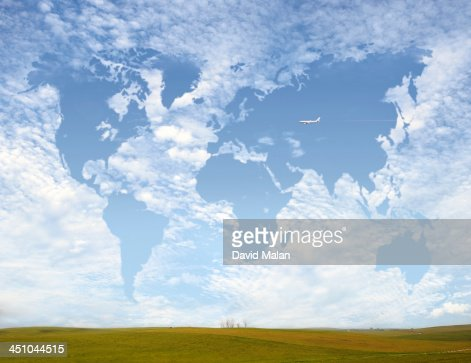 Cloudscape resembling the world