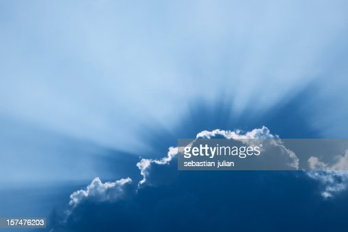 cloudscape with sun beams