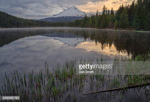 Cloudy Dawn at Trillium Lake