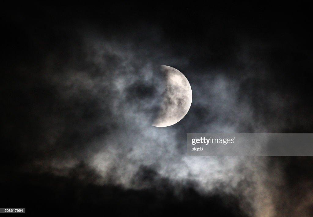 Cloudy Moon : Stock Photo