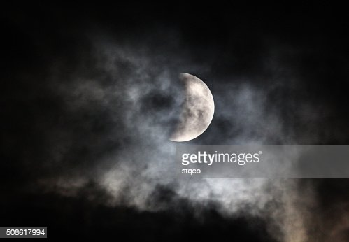 Cloudy Moon : Stock Photo