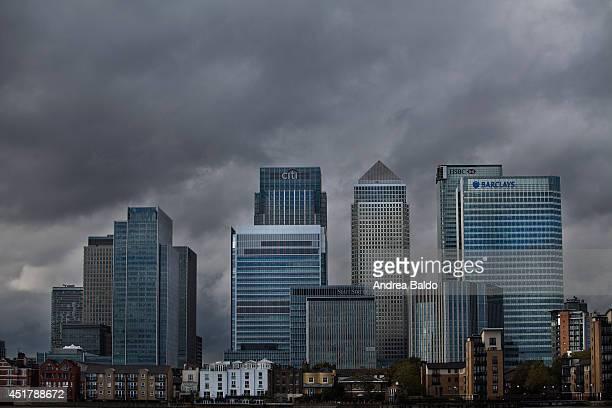 Cloudy morning in North Greenwich London United Kingdom