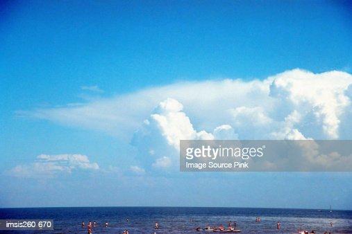 Cloudy sky and horizon : Stock Photo