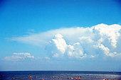 Cloudy sky and horizon