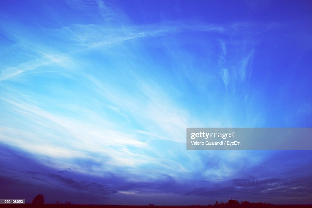 Cloudy Sky Over Landscape