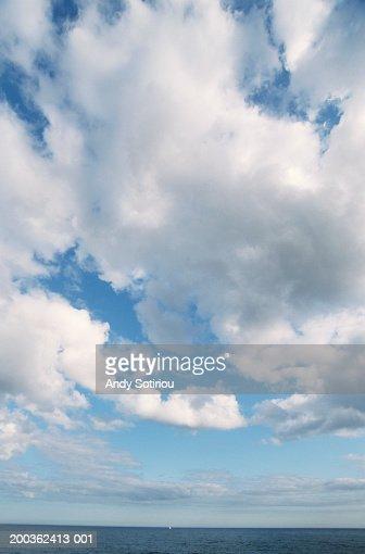 Cloudy sky over sea, Dorset, UK : Stock Photo