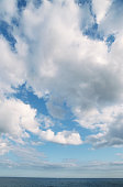 Cloudy sky over sea, Dorset, UK