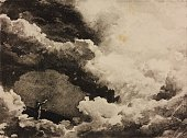 Cloudy sky sketch for il Prologo of the opera Mefistofele by Arrigo Boito Season 1881 from 500 stage design sketches in five volumes by Carlo Ferrario