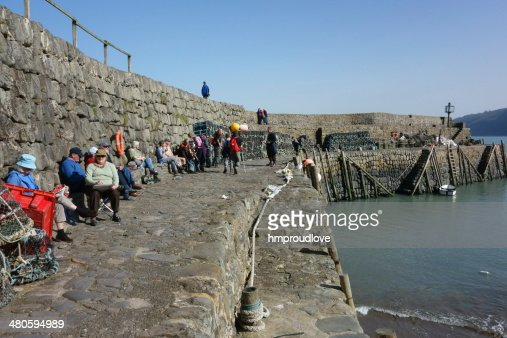 Clovelly harbour. : Stock Photo