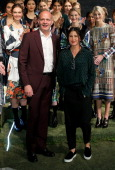 Clover Canyon CEO John Parros and Designer Rozae Nichols pose at the Clover Canyon presentation during MercedesBenz Fashion Week Fall 2014 at The...
