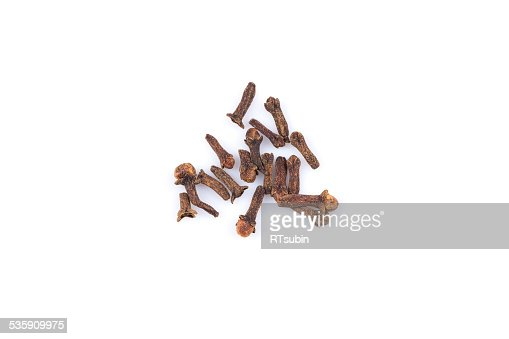 Cloves isolated on white background : Stock Photo