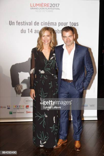 Clovis Cornillac and his wife Lilou Fogli attends the photocall before The Lumiere Prize ceremony during 9th Film Festival Lumiere on October 20 2017...