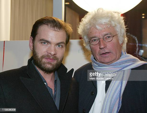 Clovis Cornillac and JeanJacques Annaud during TV TPS Star Celebrates 1000th Episode of its Program 'Star' December 11 2006 in Paris France