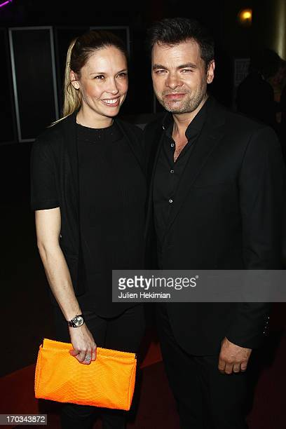 Clovis Cornillac and Lilou Fogli attend 'La Grande Boucle' Paris Premiere at Gaumont ChampsElysees on June 11 2013 in Paris France
