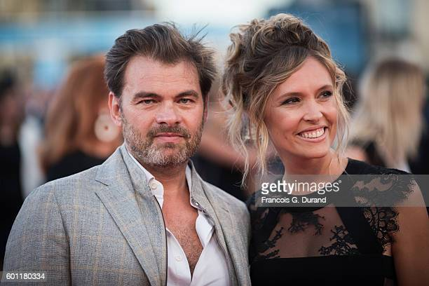 Clovis Cornillac and Lilou Fogli attend the 'Imperium' Premiere during the 42nd Deauville American Film Festival on September 9 2016 in Deauville...